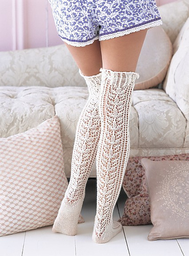 knit, knitted, lace, nice socks, nice songs, sexy