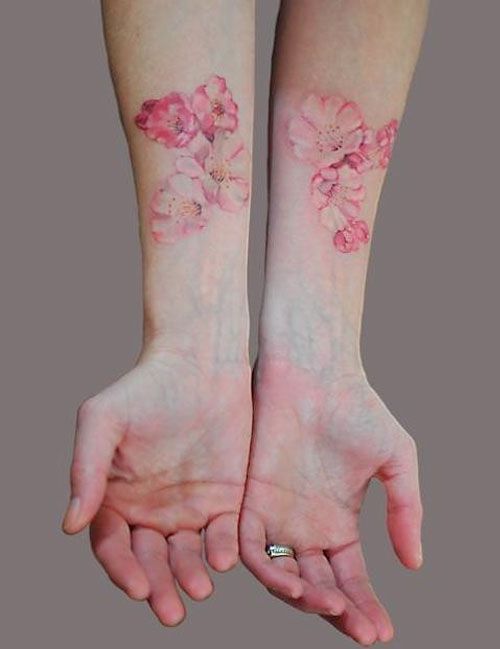 arm, awesome, floral and floral tattoo