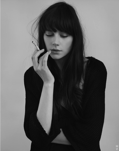 beautiful, cigarette, cute, fashion, girl, hair, light, photo, photography, pretty, skinny, smoke, style, woman