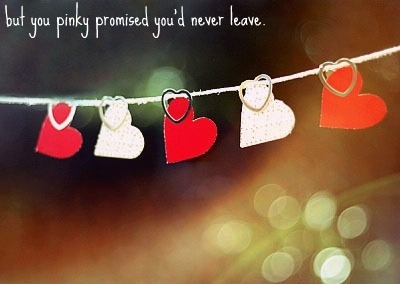 cute, heart, leave, pinky promise, promise, sad