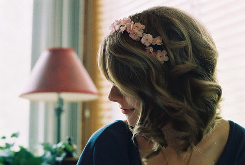 cute, delicate, deminine, flowers, girl, hair
