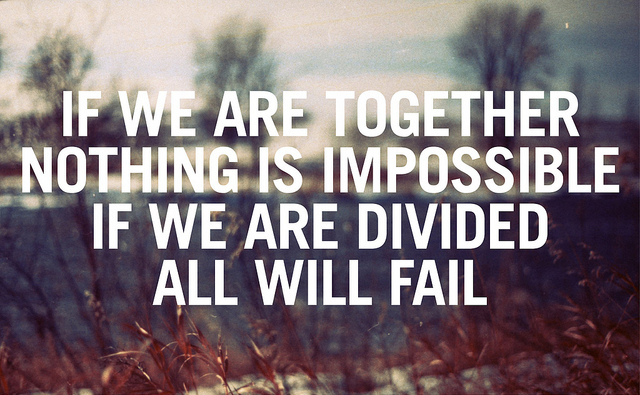 divided, fail, impossible, impossible is nothing, life quote, life quotes