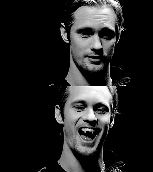acbjs, alexander skarsgard, better than bill, eric northman, fangs, handsome