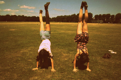 fashion, girlfriends, girls, photography, upside down