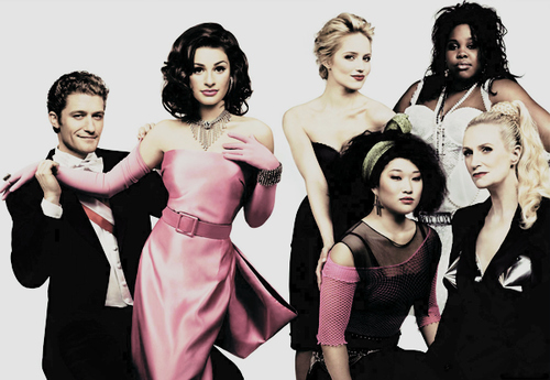 amber riley, diana agron, girls , glee, hot, jane lynch