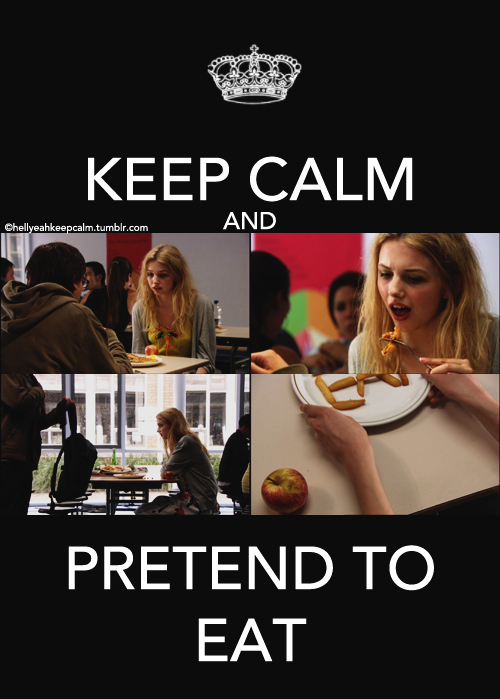 anorexia, cassie, eat, keep calm, skinny, skins