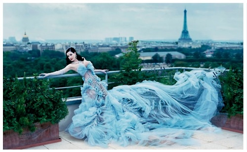 black, blue, dita von teese, dress, girl, gown