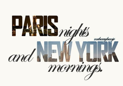 corinne bailey rae, like, mornings, new york, nights, paris, text, typography