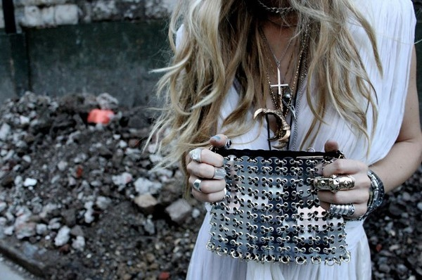 blonde, cross, curls, fashion, glitter, grey