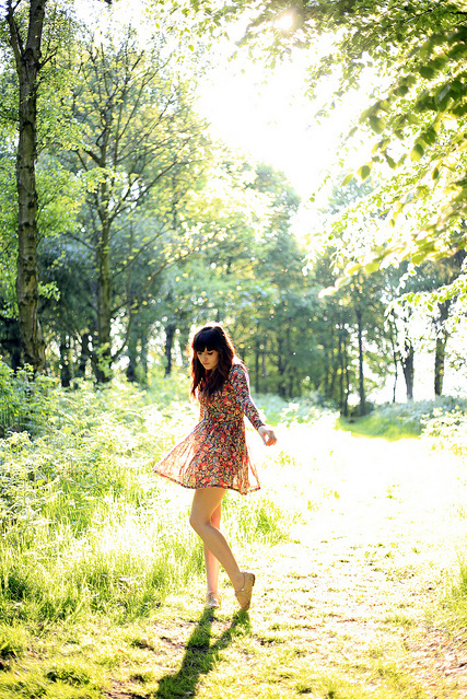 fashion, forest, girl, photography, pretty, sun