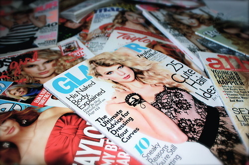allure, art, beautiful, blue, cute, dress, dumb bitch, fashion, flowers, girl, girls, glamour, hair, illustration, magazine, magazines, model, photo, photography, pretty, red, sexy, taylor swift, text, white, woman