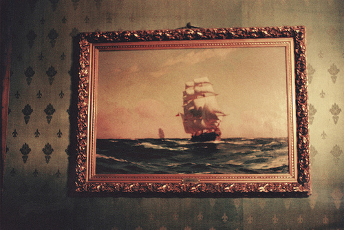 boat, frame, picture, sea, wallpaper
