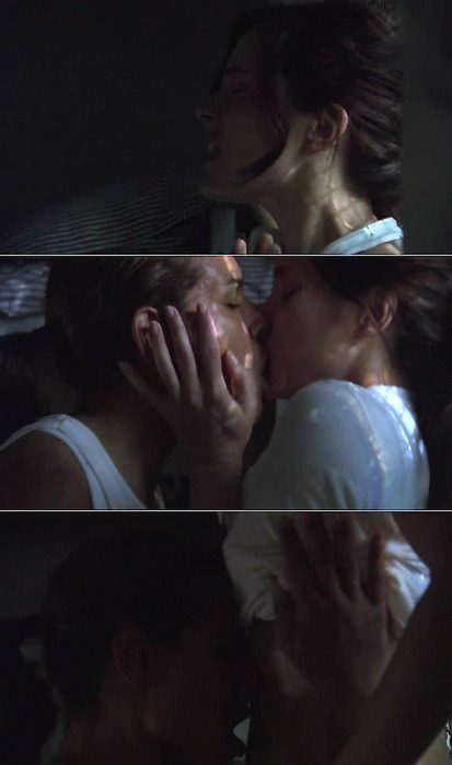 helena peabody. sexy, kiss, lesbian, lesbian sex, sex, the l word