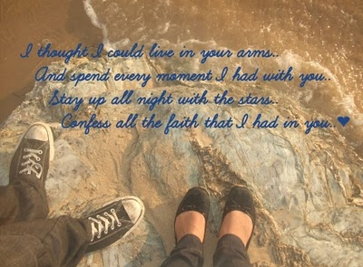 beach, converse, couple, feet, love, lyrics