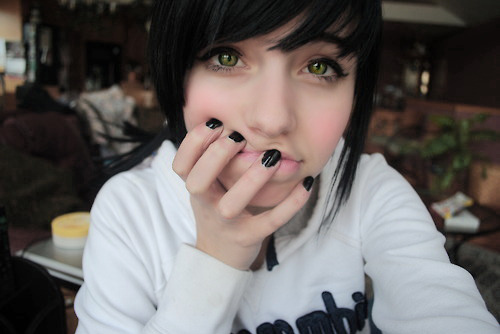 black, girl, green eyes, holy shit marry me, nails, white
