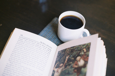 book, calm, coffee, cup, nove;, novel, reading, relaxing