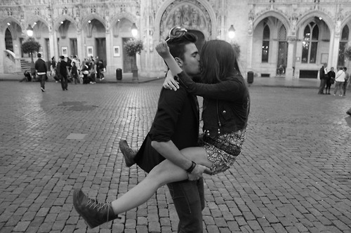 boy, couple, fashion, girl, heels, kiss