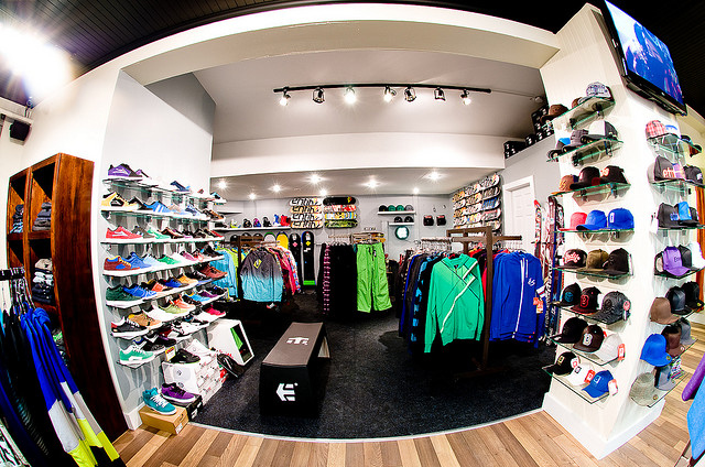 Women clothing stores. Skate clothing store