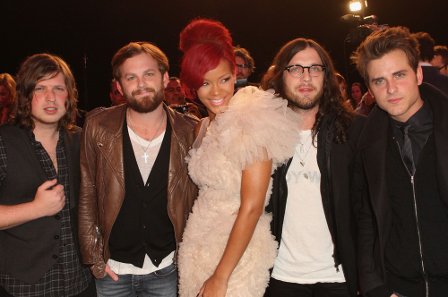 ema 2010, esses lindo, kings of leon, rihanna, rihanna estragou a foto