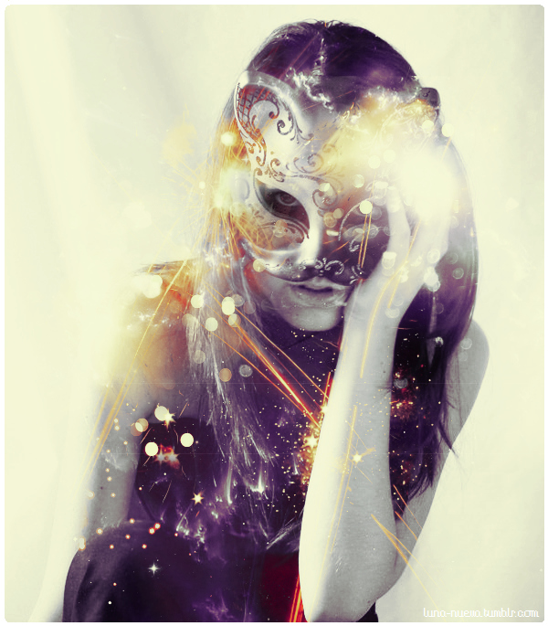 art, beautiful, digital art, girl, mask, masquerade, photography, photoshop, purple, woman