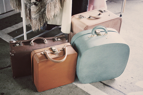 baggage, bags, blue, photography, travel, vintage