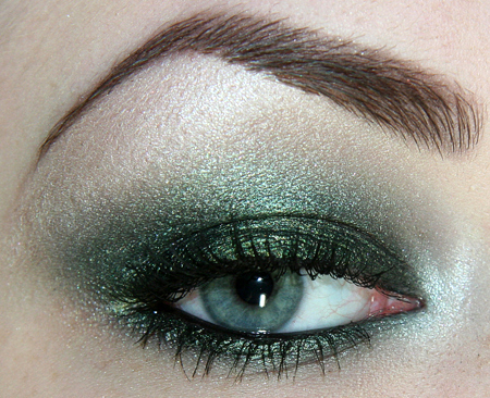brow, eye, eyeshadow, green, lashes, makeup