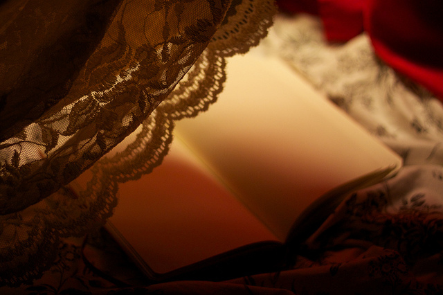 beautiful, book, dramatic, fashion, lace, lighting