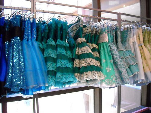 beauty, betsey johnson, blue, color, colorful, dresses