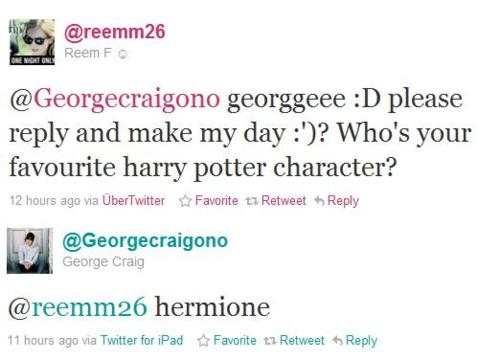 *-------------------*, couple, craitson, cute, emma watson, gemma, george craig, haha, harry potter, hermione, of course, one night only, perfect