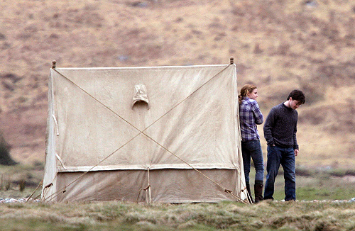 dan radcliffe, deathly hallows, deathly hallows 1, emma watson, harry potter, tent