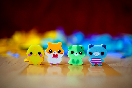 adorable, animals, cat, chinese, cow, cute, dog, eraser, frog, japanese, moo, pig, pretty, rubber