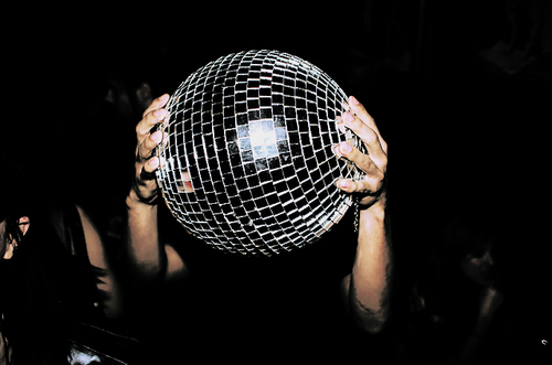 ball, disco, lights, night, party