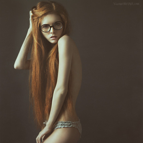 girl, glasses, hair and photography
