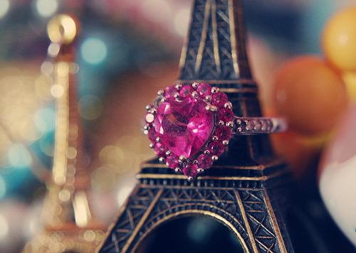 accessory, black, eiffel, eiffel tower, gold, hot, magenta, shiny, stature, miniature, paris, tower, pink, rhinestones, rhinestone, metal, ring, white, reflect, sparkle