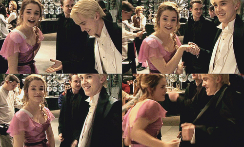 cute, draco malfoy, emma watson, harry potter, tom felton