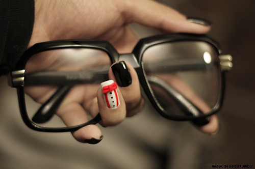 cute, fashion, glasses, nail, photography