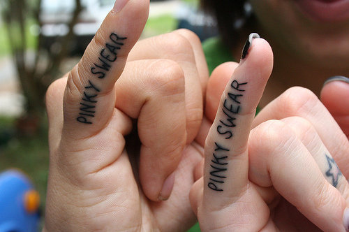 cute, hands, pinky, promise, swear, tattoo