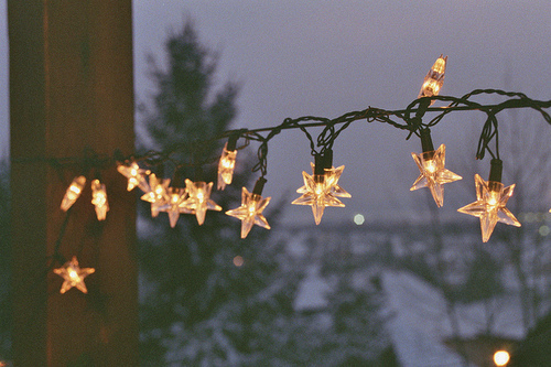 fairy, glow, lights, night, pretty, stars, string
