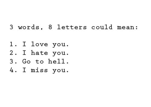 hate, hell, letters, love, miss