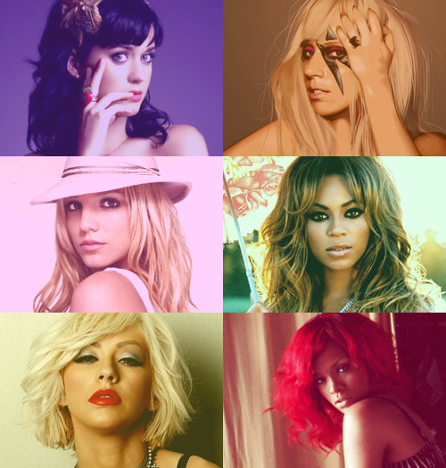 *-*, beyonce, britney spears, christina aguilera, famous, fuck off britney, hot, katy perry, lady gaga, red, rihanna