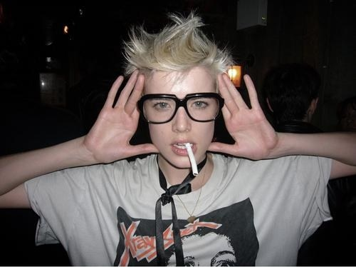 agyness, agyness deyn, blonde, glasses, model, omfg