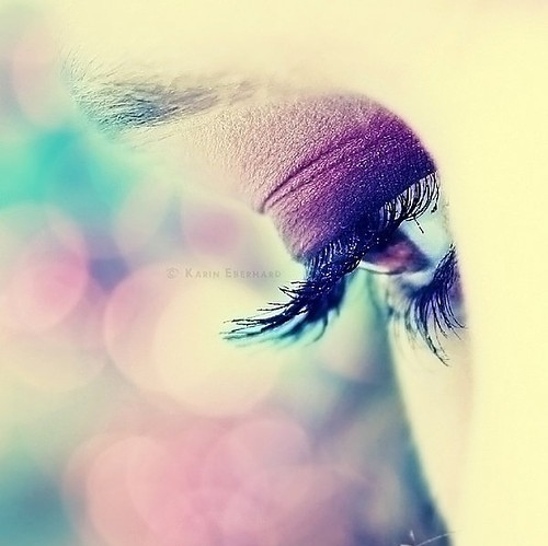 blend, blue, bokeh, dream, eye, eyelashes