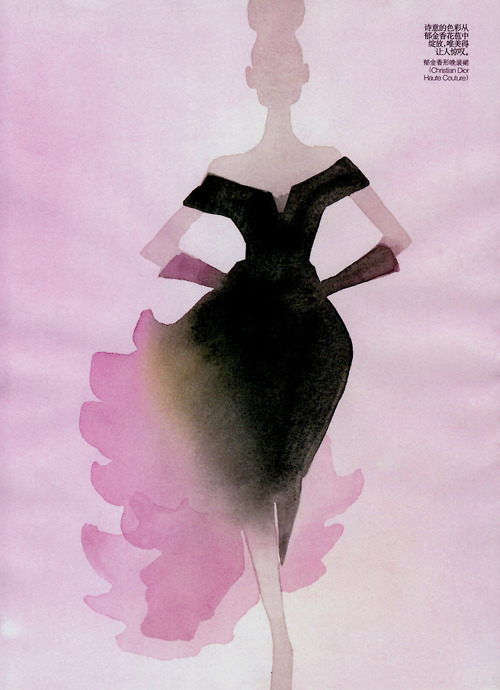 christian dior, december 2010, dior, dress, fashion, fashion illustration