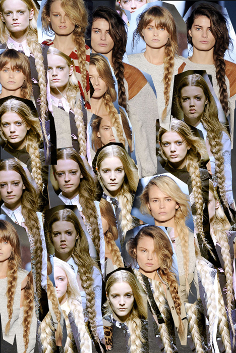 abbey lee kershaw, alexander wang, braids, dorothea barth jorgensen, fashion, hanne-gaby odiele