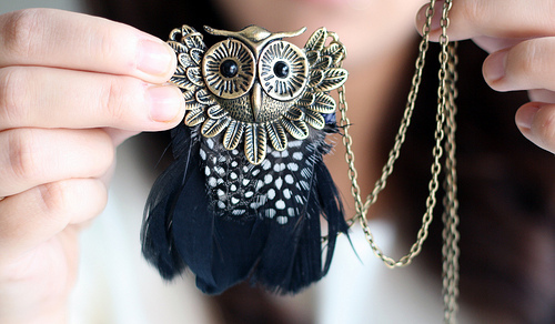 acessorie, blog, cute, http://www.vipxo.co.uk, necklace, owl