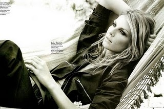 angela lindvall, black and white, blonde, elle, hair, italia