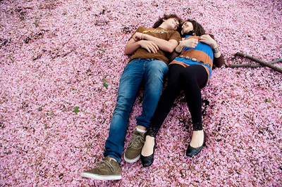 Couple flower garden girl girlfriend love pink pretty sweet