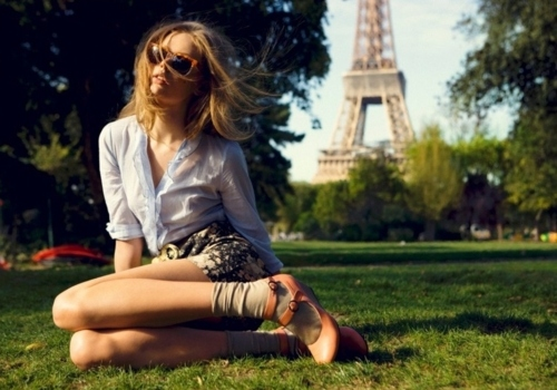 Eiffel tower fashion girl model paris vintage