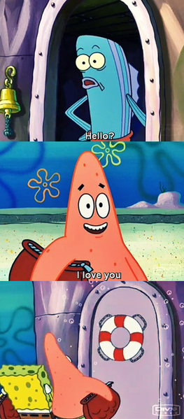 happy, lol, patrick, patrick star, sponge bob, spongebob