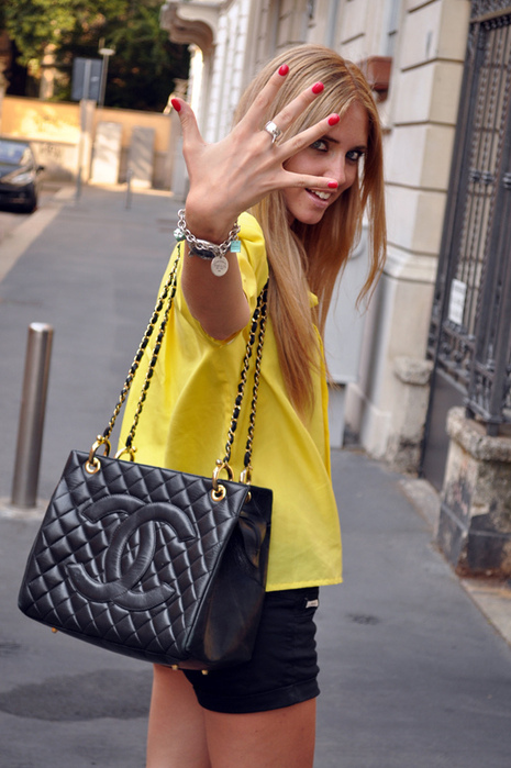 blonde, chanel, chiara ferragni, fashion, girl, pink